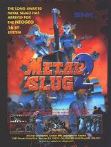 Metal Slug 2 Arcade Flyer