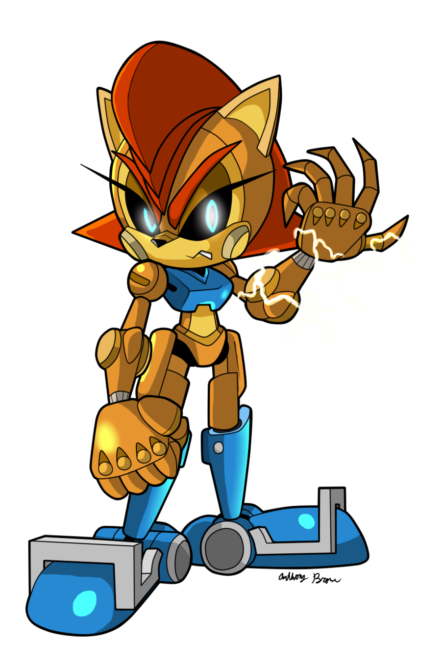 Cyber Sonic and Sally by Elisto on DeviantArt