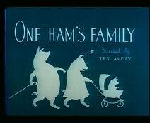 One ham's family 1943