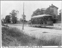 BRIDGEPORT-STRATFORD HORSE-DRAWN TROLLEY 1892 CT