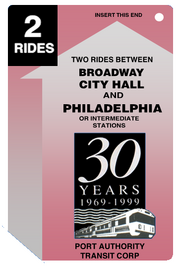 30 Year Anniversary PATCO Ticket