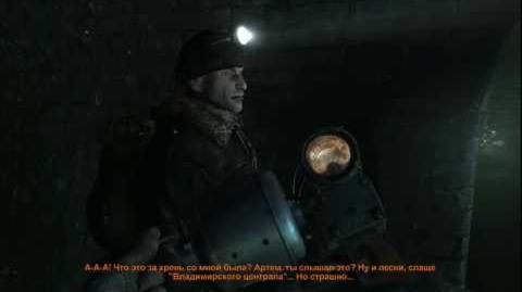 Metro 2033 (Stealth hardcore challenge walkthrough) Chapter 2 Catacombs