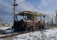 Krests Railcar at Volga
