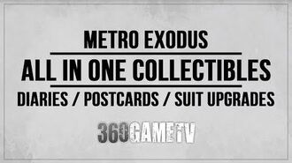 Metro Exodus All Diary Pages Postcards Suit Upgrades - All in One Collectibles Locations Guide