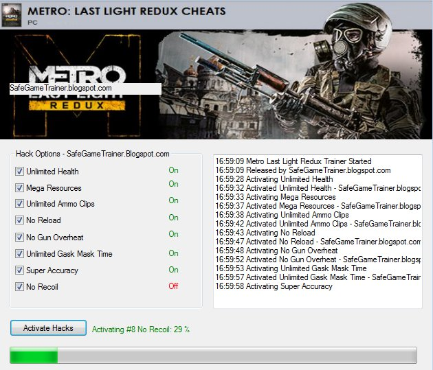 Image metro last light redux working trainer download cheats. Jpg.