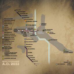 Warszawa w 2033 A.D. (mapa)