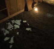 Trap broken glass
