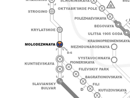 MolodezhnayaStationLocation