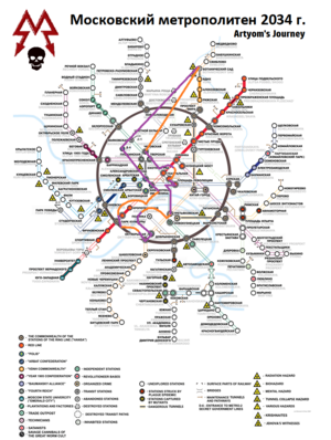 Metro Map - Artyom's Journey 2034 Last Light