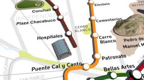 Revisa el trazado de la nueva Línea 3 de Metro de Santiago