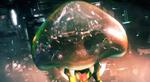 Baby Metroid saving Samus