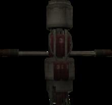 Modelo-robot incinerador
