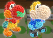 Samus amiibo costume Yoshi's Wooly World