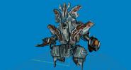 Modelo-ghor en su armadura