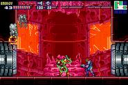 SA-X atacado por metroids