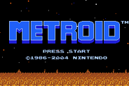 Metroid 1 MZM Title Screen