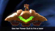 SSBU Zero Suit Samus Gunship Final Smash use Power Suit to fire laser