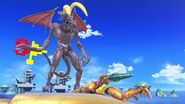 Ridley with bunny ears and Special Flag