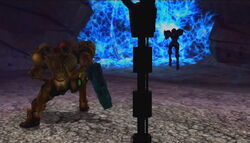 MP2 Samus encounter Dark Samus