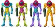 Metroid fusion suits by kenji imatake