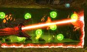 MSR Queen Metroid fire beam and green energy balls