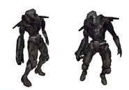 Modelos-soldado oscuro