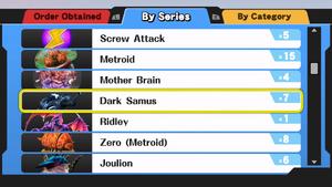 SSB4 Wii U Metroid Trophies