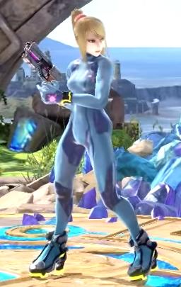 Zero Suit Samus new idle pose