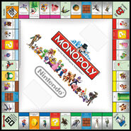 Nintendo Monopoly Board 2010