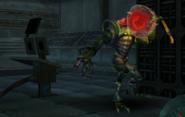 Metroid Talloniano atacando a un Pirata Espacial1