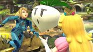Samus Zero y Peach SSB WiiU
