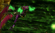 Metroid Samus Returns Proteus Ridley Rescue Baby - Ridley flying out of control after being hit (Transition Cutscene 1)