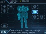 Metroid Samus Returns Inventory Screen Varia Suit (Inventory)