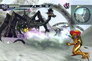 Samus combatiendo contra un groganch