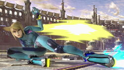 SSB Ultimate Zero Suit Samus down tilt