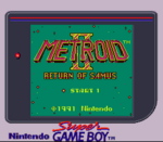 Metroid II - Return of Samus SGB Palette Title