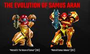 The Evolution of Samus Aran (Nintendo AU site)