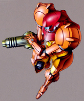 Samus MP2 pose art SM