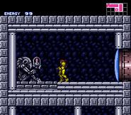 Estatua Choazo en Super Metroid