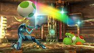 Samus Zero y Yoshi SSB WiiU