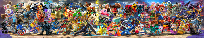 SSBU Panoramic with Ken and Incineroar
