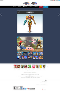 SSB4 Official Site bio - Samus