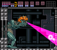 Super Metroid Cerebro Madre hyperbeam