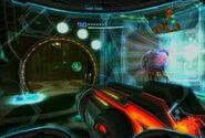 Metroid de Phazon en una Unidad de Contención