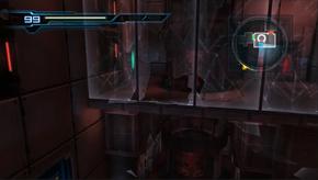 Main Sector lift hub - broken window