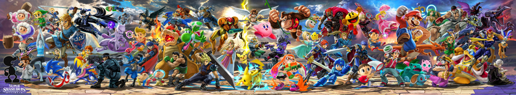SSB Ultimate character splash