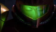 A Piercing Screech Samus closes eyes and sighs