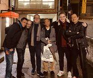 Dylan Cuthbert with Dan Owsen, Takahiro Izushi and Yoshio Sakamoto