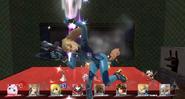 Samus Zero KO pantalla SSB WiiU
