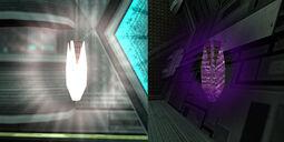 Munición del Rayo oscura y de luz mp2e